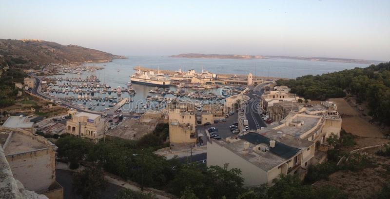 De Mening van een Mediterraan Paradijs royalty-vrije stock afbeelding