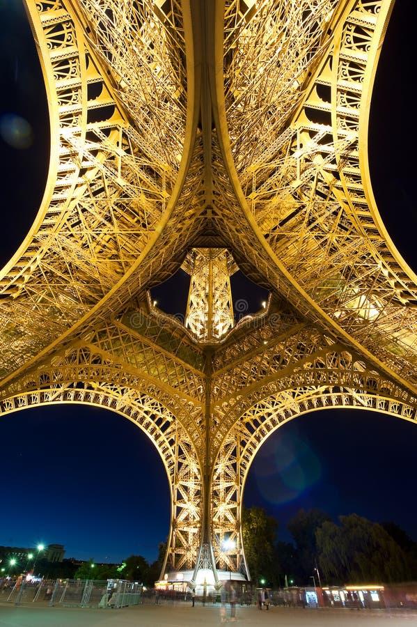 De Mening van Fisheye van de Toren van Eiffel royalty-vrije stock foto's