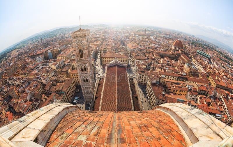 De mening van Florence, Italië royalty-vrije stock afbeelding