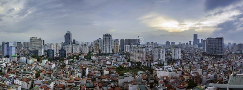De mening van Hanoi van de hemel royalty-vrije stock fotografie