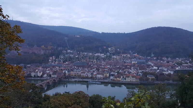 De mening van Heidelberg stock fotografie