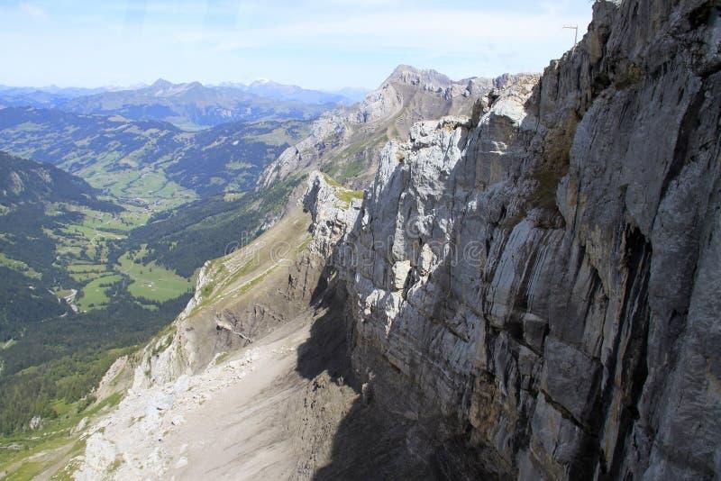 De mening van het berglandschap royalty-vrije stock afbeelding