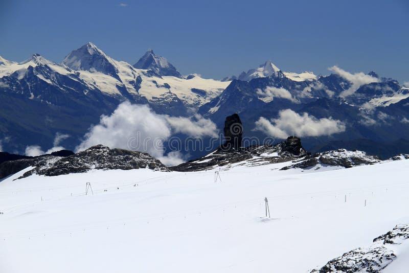 De mening van het berglandschap stock foto