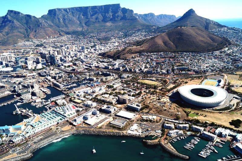 De mening van het Bird'soog van Cape Town, Zuid-Afrika stock afbeeldingen