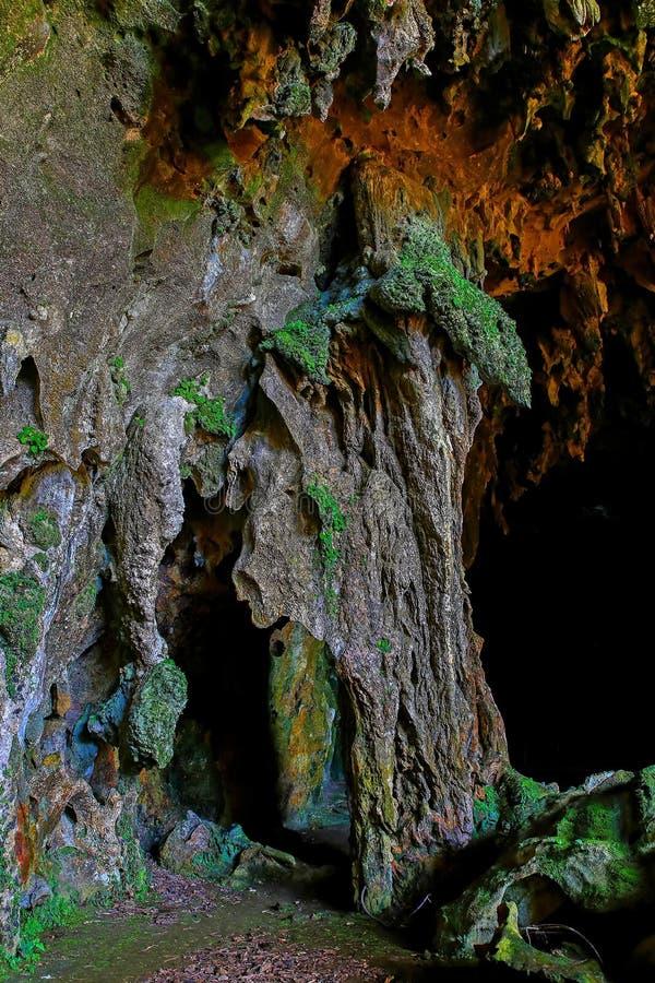 De mening van het Callaohol van 1st kameringang met stalactieten en stalagmietenvormingen stock afbeeldingen