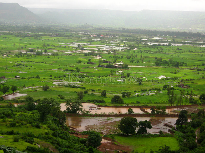 De mening van het landschap van vallei stock afbeeldingen