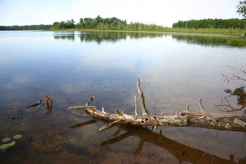 De Mening van het meer royalty-vrije stock fotografie