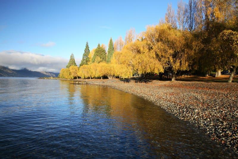 De mening van het meer in Queenstown royalty-vrije stock fotografie