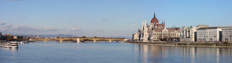 De mening van het panorama van Boedapest royalty-vrije stock afbeelding