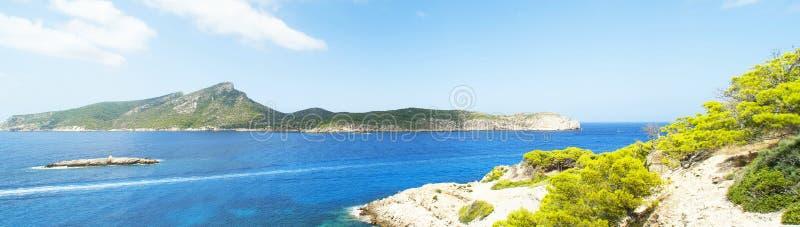 De mening van het panorama van Mallorca stock foto's