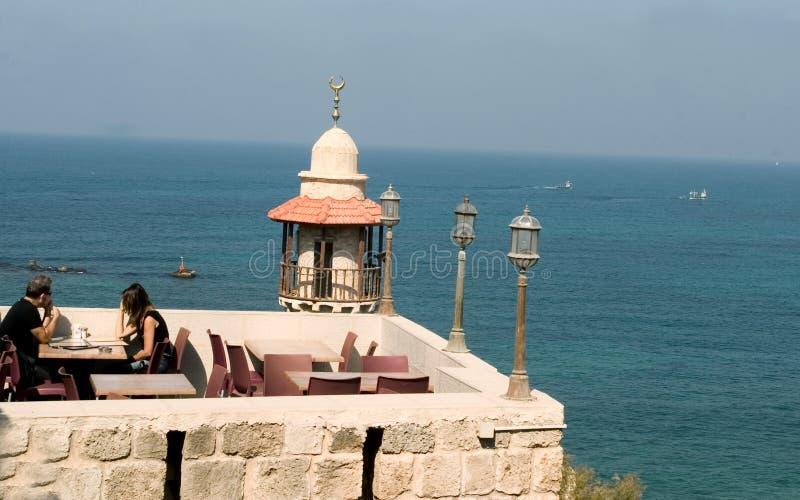 De mening van het Restaurant van Jaffa stock afbeeldingen