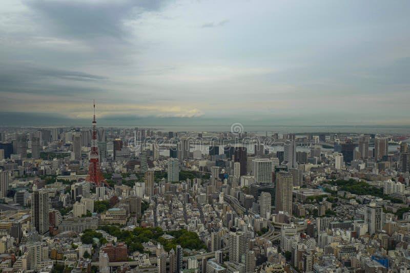 De mening van het Roppongi-gebied Roppongi is een district van Minato, Tokyo, Japan stock foto's