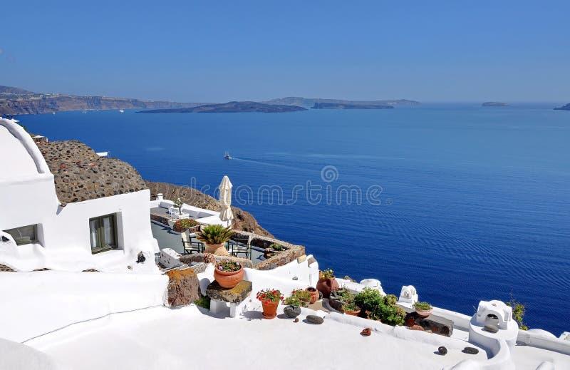 De mening van het Santorinidak royalty-vrije stock foto's