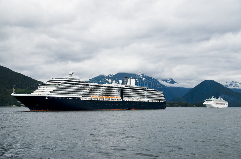 De Mening van het Schip van de cruise stock fotografie