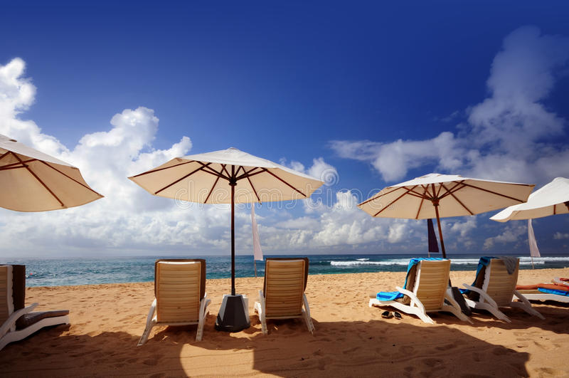 De mening van het strand royalty-vrije stock foto's