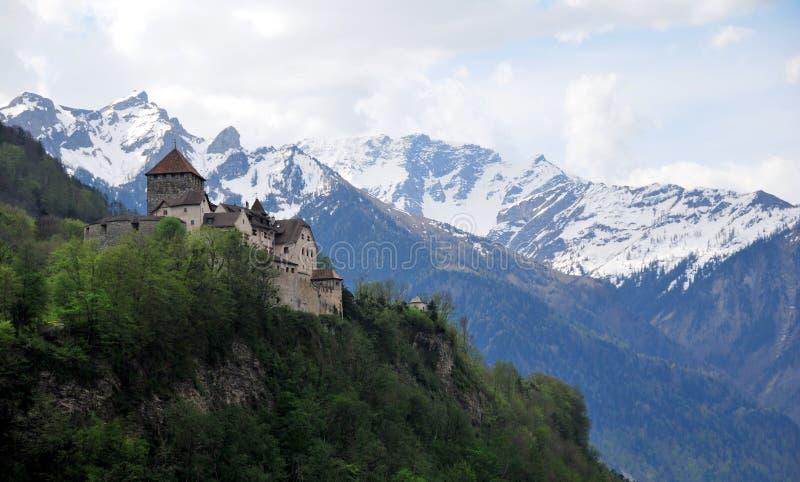 De mening van het Vaduzkasteel stock foto