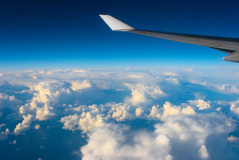 De mening van het vliegtuig royalty-vrije stock afbeeldingen