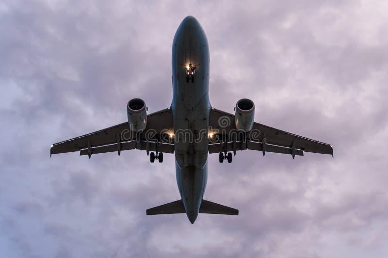 De mening van het vliegtuigplatform stock foto's