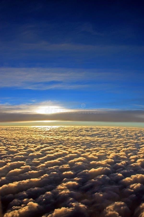 De mening van het vliegtuigvenster stock foto's