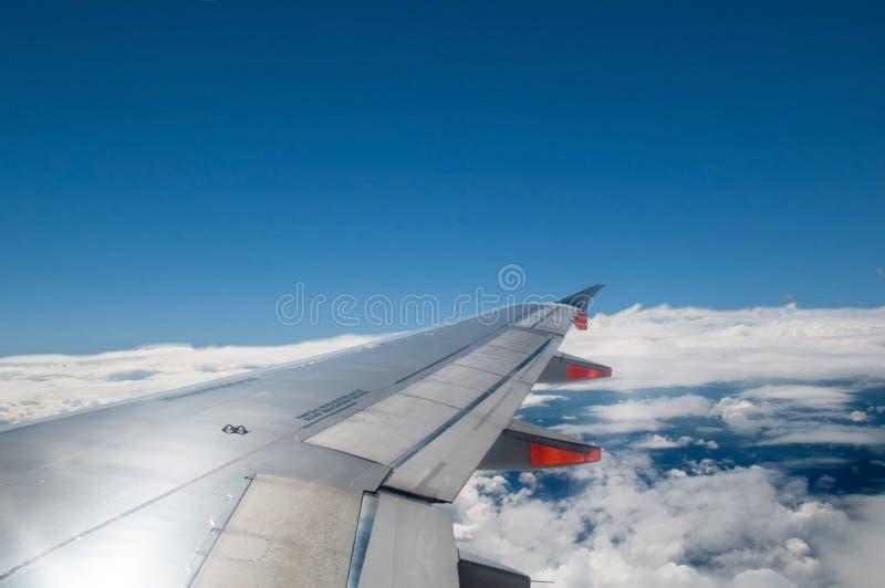 De mening van het vliegvenster royalty-vrije stock fotografie