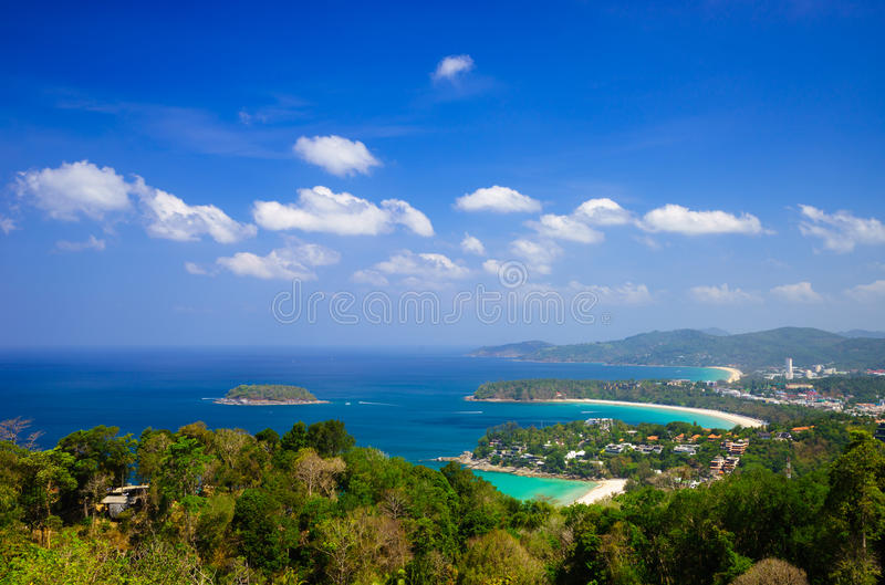 De mening van het vogeloog van Phuket, Thailand stock foto