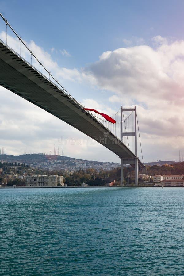 De mening van Istanboel met de Bosphorus-Brug stock afbeelding