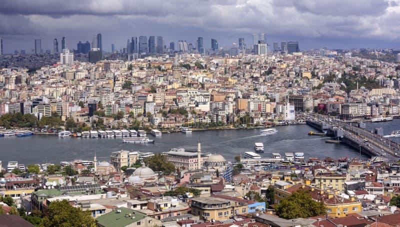 De mening van Istanboel van Beyazit Tower royalty-vrije stock afbeeldingen