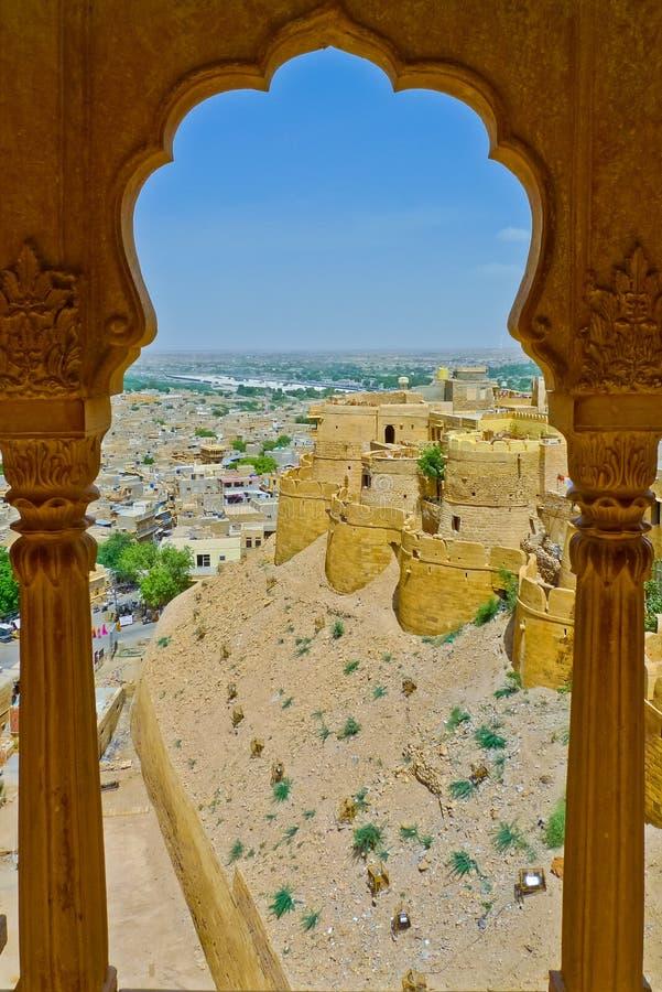 De Mening van Jaisalmer royalty-vrije stock afbeeldingen
