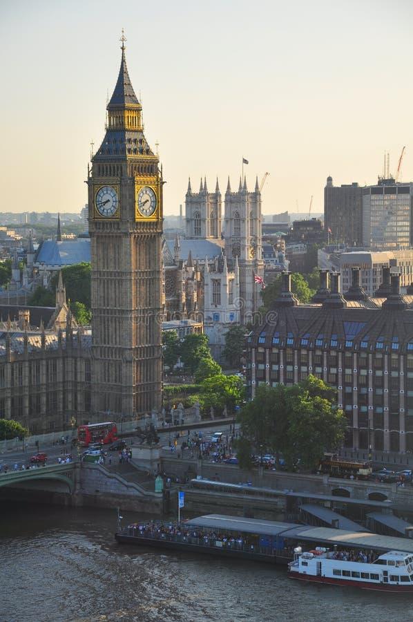 De Mening van Londen Theems royalty-vrije stock afbeeldingen