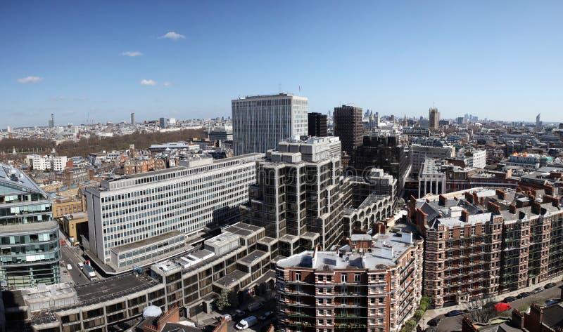 De mening van Londen van stad van Westminster stock foto's