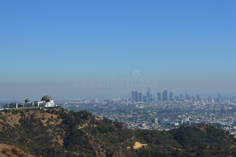 De mening van Los Angeles over stad stock afbeeldingen