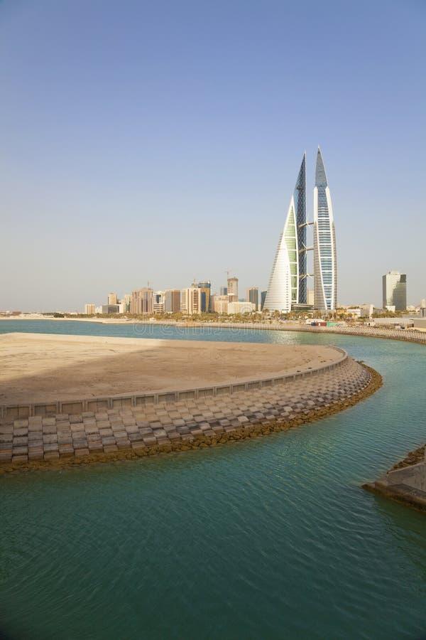 De Mening van Manama, Bahrein royalty-vrije stock afbeeldingen