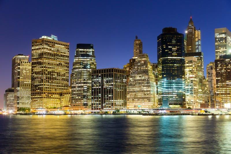 De Mening van Manhattan stock afbeelding