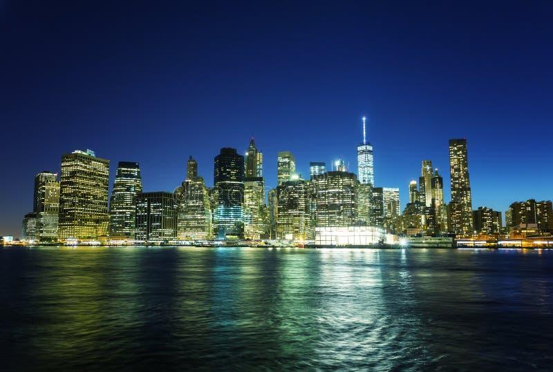 De Mening van Manhattan royalty-vrije stock afbeelding