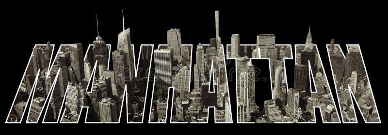 De mening van Manhattan over brieven vector illustratie
