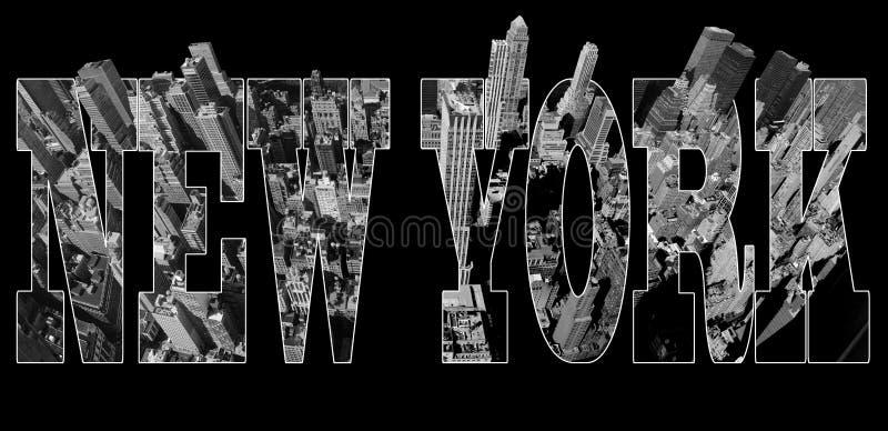 De mening van Manhattan over New York stock illustratie