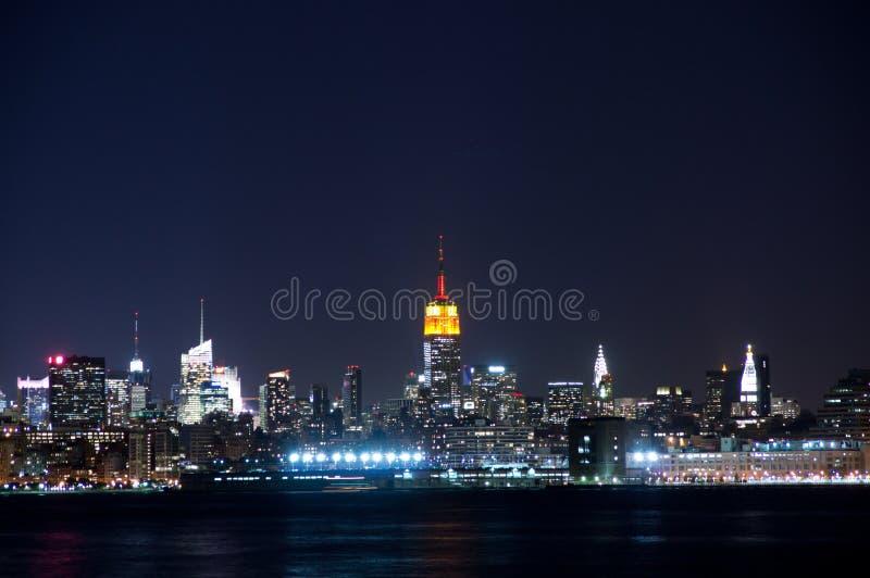 De Mening Van Manhattan Van Stad Jersy Stock Fotografie