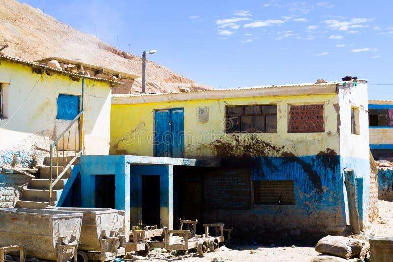 De mening van de de mijnbouwstad van Potosi, Bolivië stock afbeeldingen