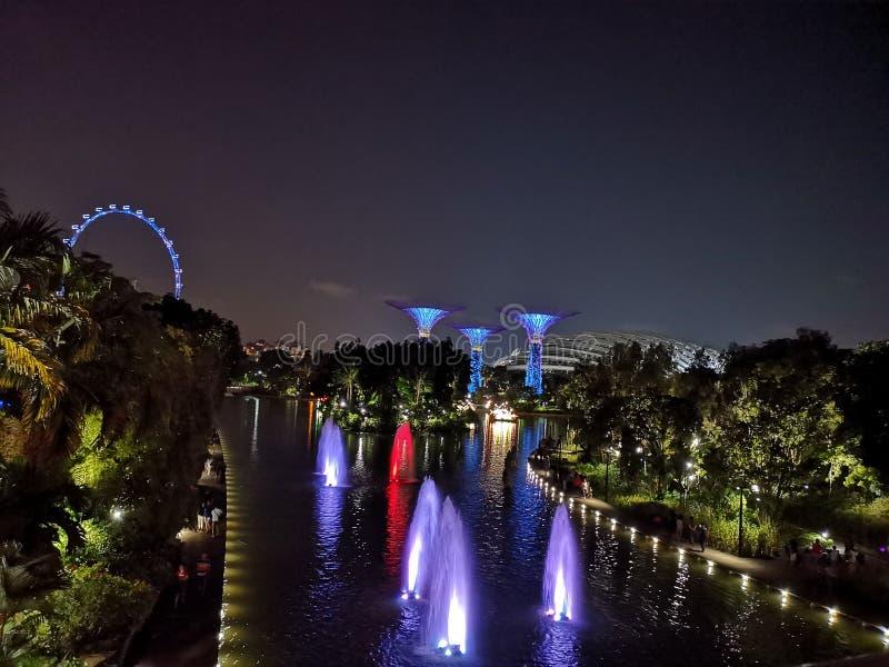 De mening van de nacht van Singapore stock afbeeldingen