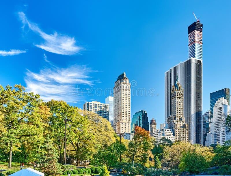 De mening van New York van Centraal park stock foto
