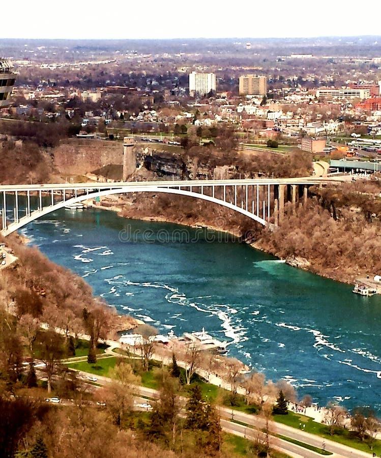 De Mening van Niagaradalingen vanaf de bovenkant stock foto's