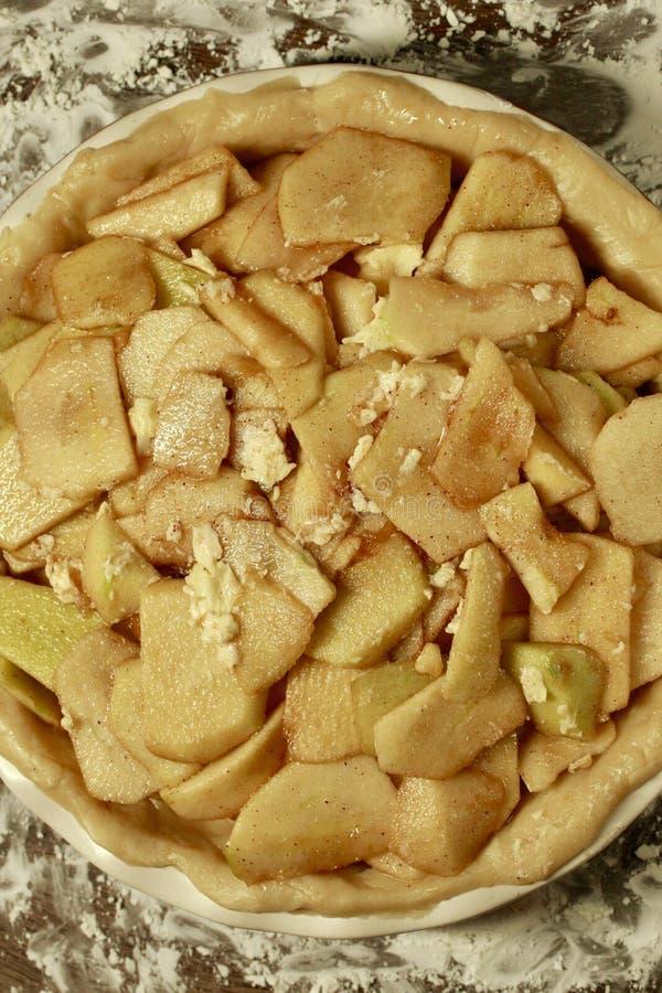 De Mening van omasmith apple pie tart overhead stock fotografie
