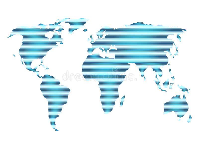 De mening van de planeetkaart satillite voor de vector van het embleemontwerp, bolpictogram, aardesymbool vector illustratie