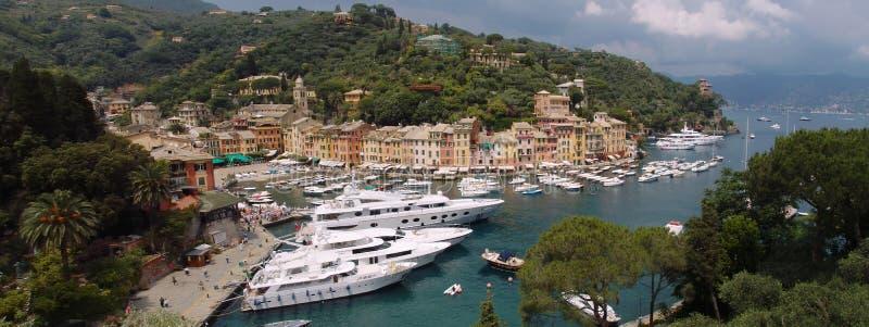 De mening van Portofino royalty-vrije stock afbeeldingen