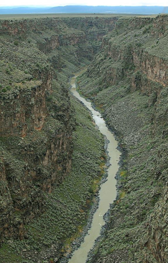 De mening van Rio Grande Gorge Taos New Mexico stock foto's