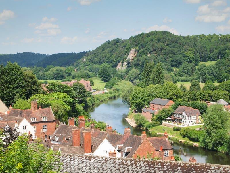 De mening van riviersevern in Bridgnorth royalty-vrije stock fotografie
