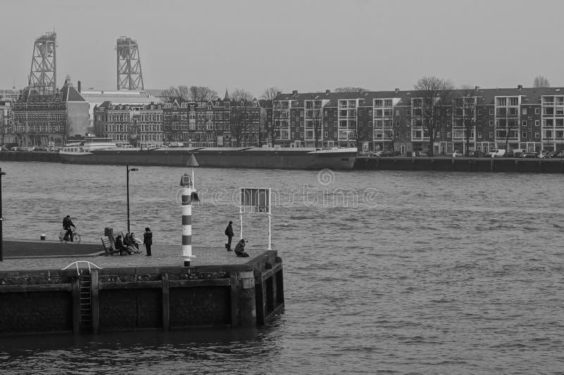 De mening van Rotterdam stock afbeeldingen