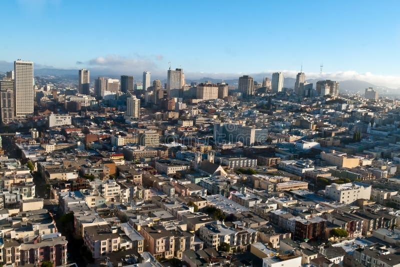 De mening van San Francisco stock afbeelding