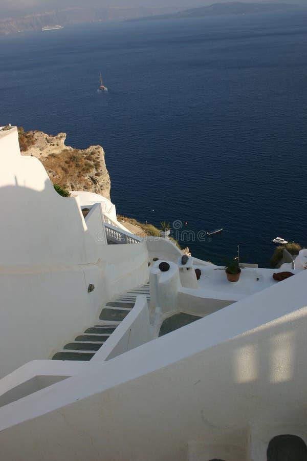 De mening van Santorini stock foto's