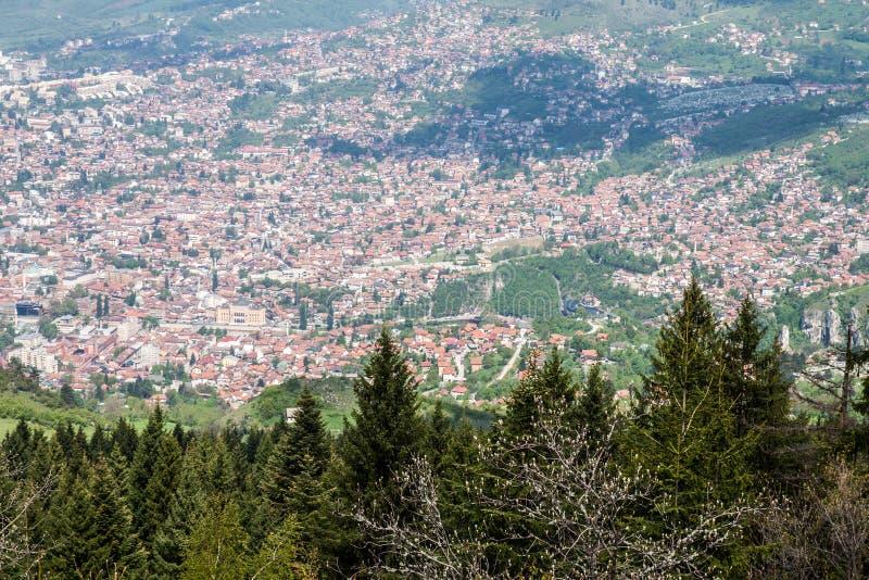De Mening van Sarajevo stock foto